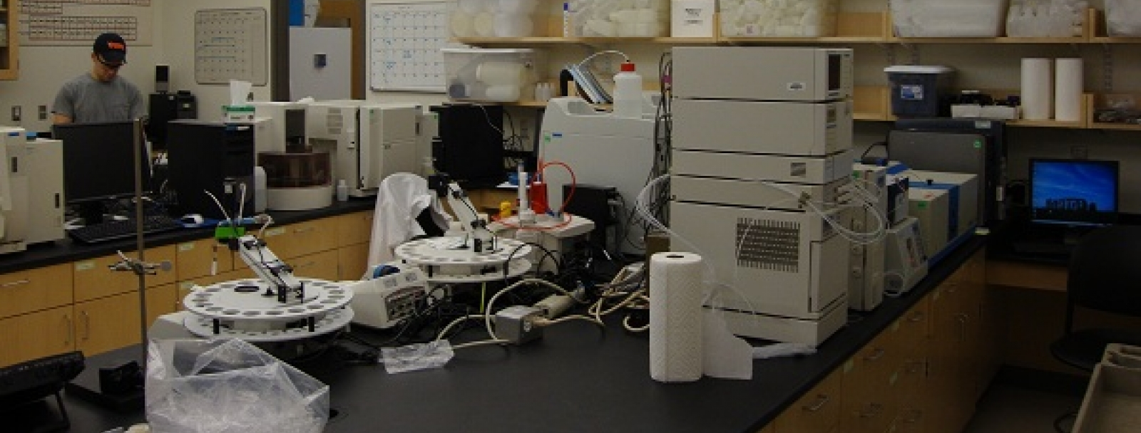 view of lab and equipment